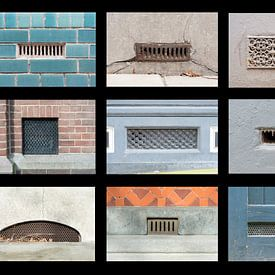 collage van luchtroosters van Aline van Weert