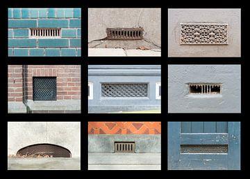 collage van luchtroosters van