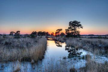 Zonsondergang Wierdense ven - Nederland  van Jeroen(JAC) de Jong