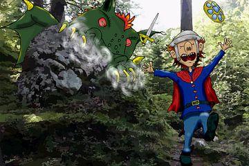 De wouddraak van HEUBEERE Cartoons