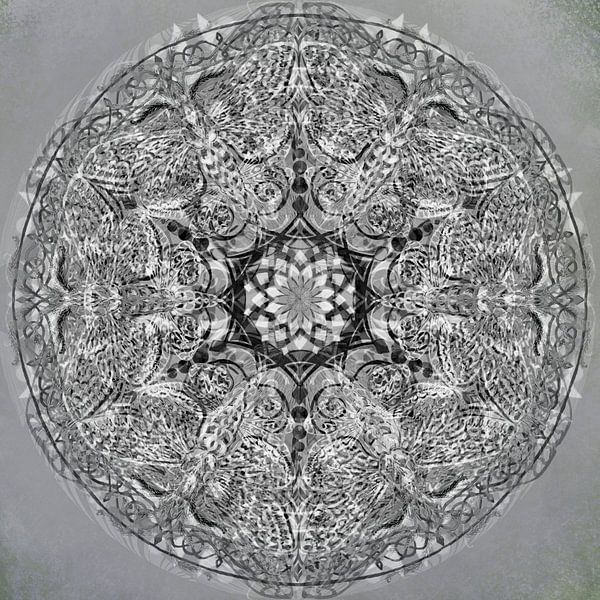 Mandala grafisch, zwart-wit van Rietje Bulthuis