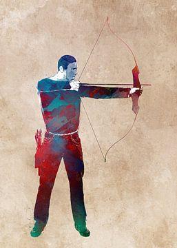 boogschieten sport kunst #archery van JBJart Justyna Jaszke