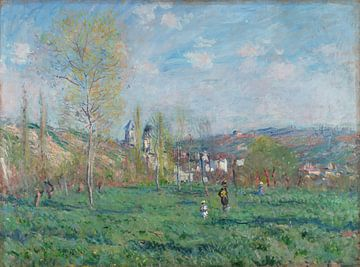Printemps à Vethuil, Claude Monet sur