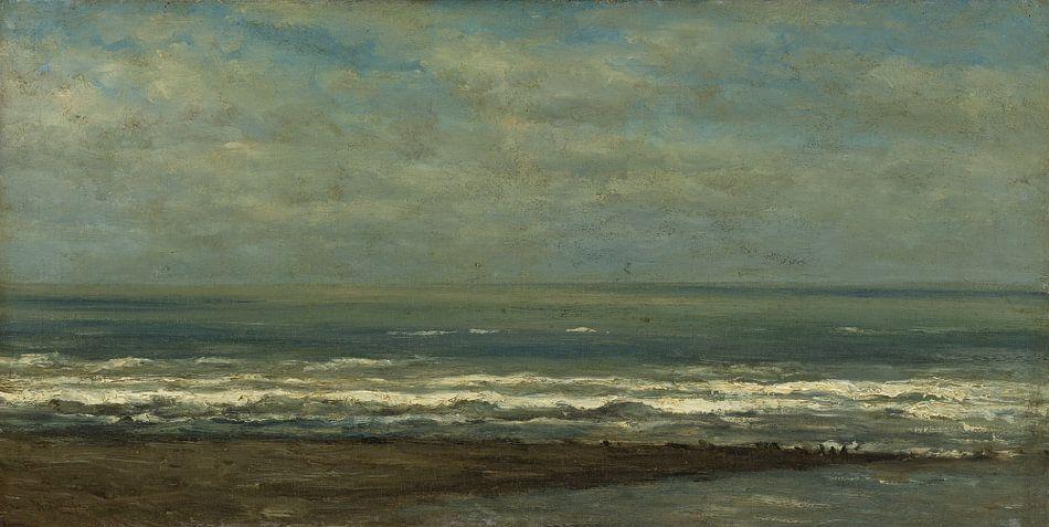 Zeegezicht bij Heijst