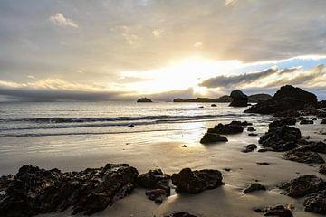 Strand mit Sonnenaufgang von Robert Styppa
