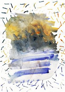 Abstract Landscape Painting Watercolor Art