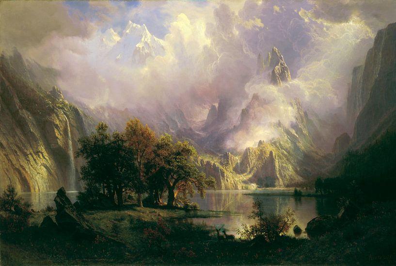 Albert Bierstadt. Rocky Mountain Landscape von 1000 Schilderijen