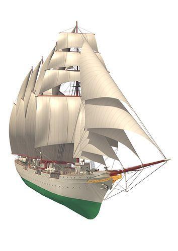 Juan Sebastián de Elcano vue frontale sur