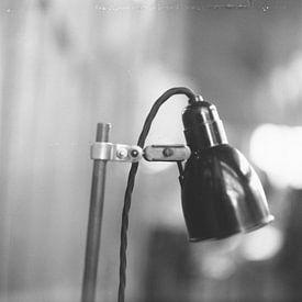 Antike Schreibtischlampe von Johannes Wobus
