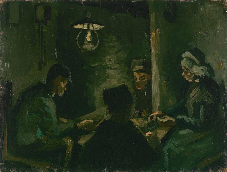 Study for 'The Potato Eaters', Vincent van Gogh von Meesterlijcke Meesters