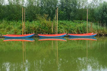 Bootjes bij Koedood, Zuid-Holland van Michel van Kooten