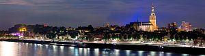 Nacht panorama Nijmegen