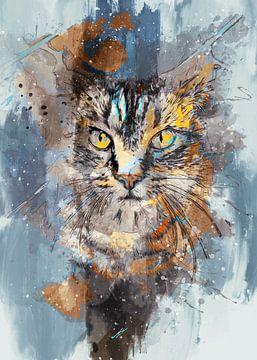 Katze 7 Tiere Kunst #Katze #Katzen #Kätzchen von JBJart Justyna Jaszke