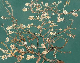 Mandelblüte grün - Vincent van Gogh von Meesterlijcke Meesters