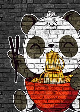 Anime Panda Bär Ramen Noodles von KalliDesignShop