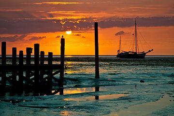 Waddenzee Sunrise van Johan Habing