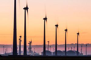 Windturbines en industrie Eemshaven