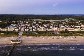 Luftbildaufnahme Seebad Ahlbeck auf der Insel Usedom von Werner Dieterich