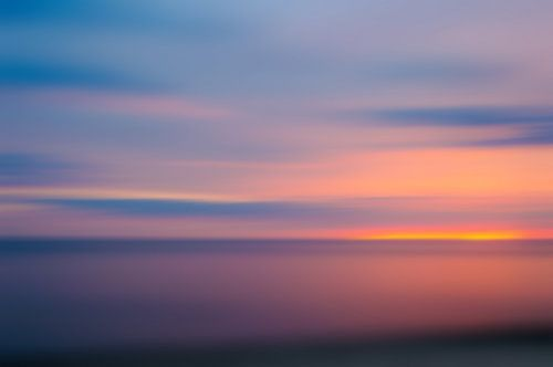 Sunset at the Baltic Sea van