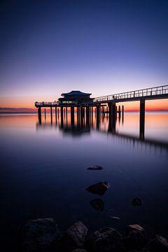 De zonsopgang Timmendorfer Strand