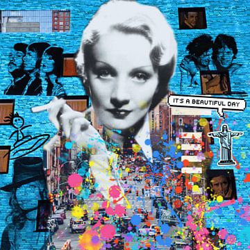 Motiv Marlene Dietrich - Dadaismus Nonsens van Felix von Altersheim