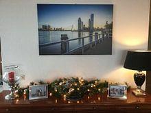 Klantfoto: Rotterdam Skyline vanaf Katendrecht van Mark De Rooij, op canvas