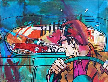 De Achtervolging / The Car Chase van Frans Mandigers