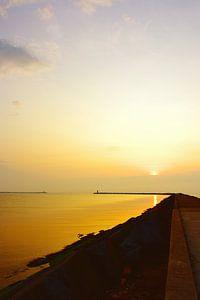 Pier bij Wijk aan Zee, zonsondergang