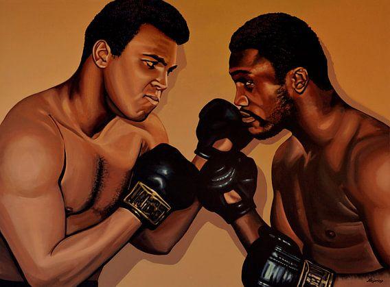 Muhammad Ali en Joe Frazier Schilderij van Paul Meijering