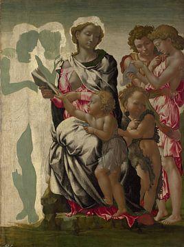 The Manchester Madonna, Michelangelo sur