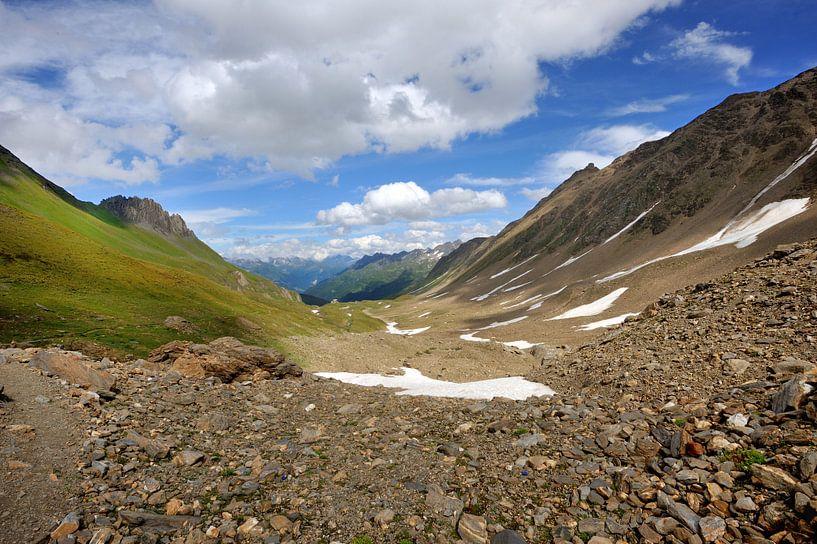 Mooi uitzicht in de Alpen van Peter Apers