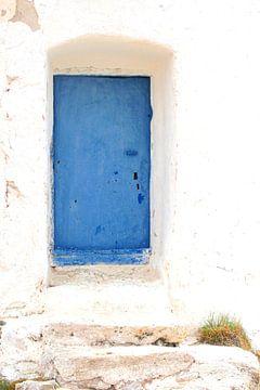 Blauwe deur van