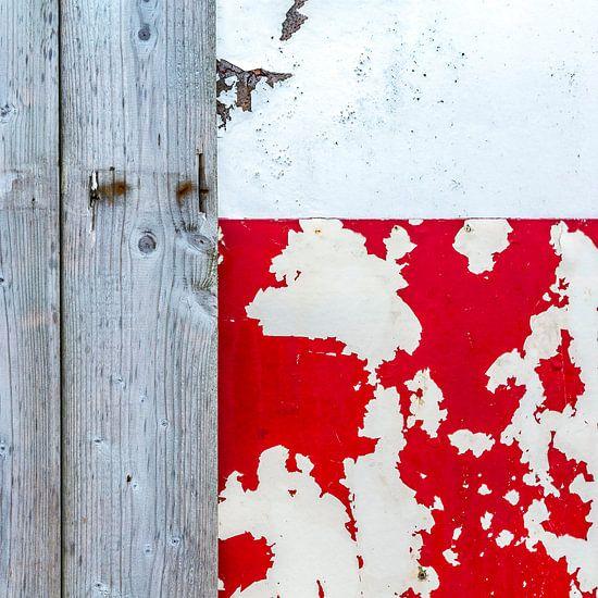 Strandhuis abstract in natuurlijk materiaal