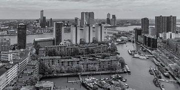 Uitzicht op de Leuvehaven en Wilhelminapier in Rotterdam von Tux Photography