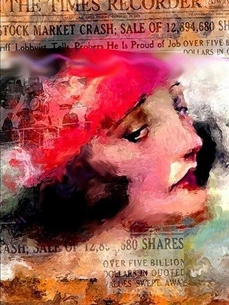 Stock Market Crash Pop Art Canvas  van Leah Devora