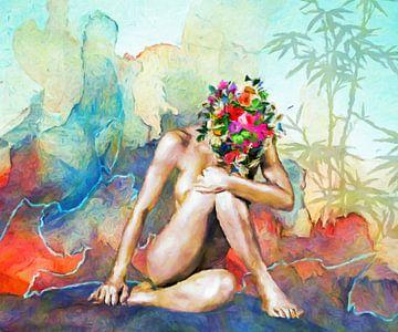 gedachteloze, abstracte kunst van Marion Tenbergen