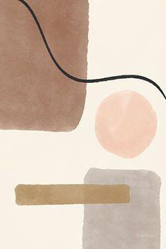 Geo abstract i neutraal roze, Becky Thorns van Wild Apple