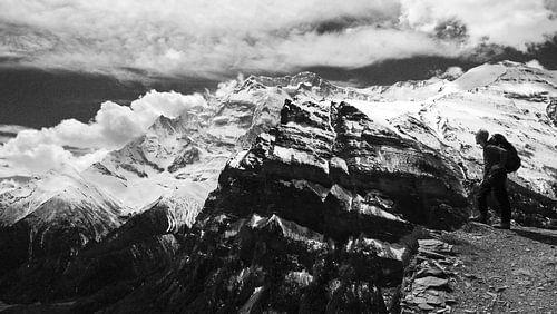 Hiker in de Himalaya