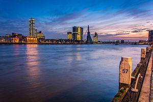 Sunset in Rotterdam van Alexander Blok