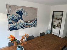 Kundenfoto: Die große Welle von Kanagawa, Hokusai, als akustikbild