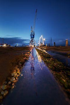 Kraan - een spoor. Harlingen Haven