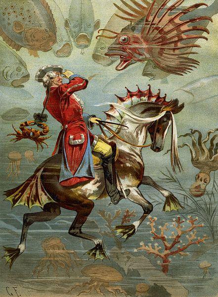 Gottfried Franz, Baron Münchhausen unter Wasser - 1894 von Atelier Liesjes