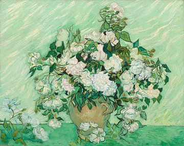 Vase mit Rosen - Vincent van Gogh von