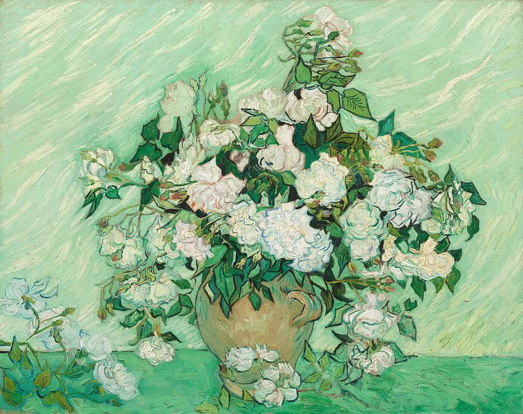Vase mit Rosen - Vincent van Gogh von 1000 Schilderijen