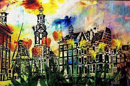 Tulpen aus Amsterdam Holland, digitale Kunst