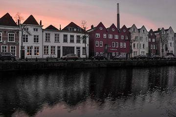 Zonsondergang in Bergen op Zoom sur Kim de Been