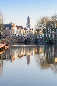 De Utrechtse Domtoren vanaf de Bemuurde Weerd