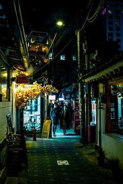 Smalle straatjes in Seoul van Mickéle Godderis