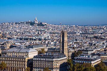 Blick auf die Basilika Sacre-Coeur in Paris, Frankreich von Rico Ködder