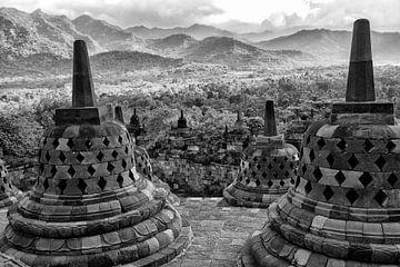 borobudur indonesie van Jan Pel